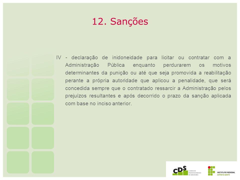 12. Sanções