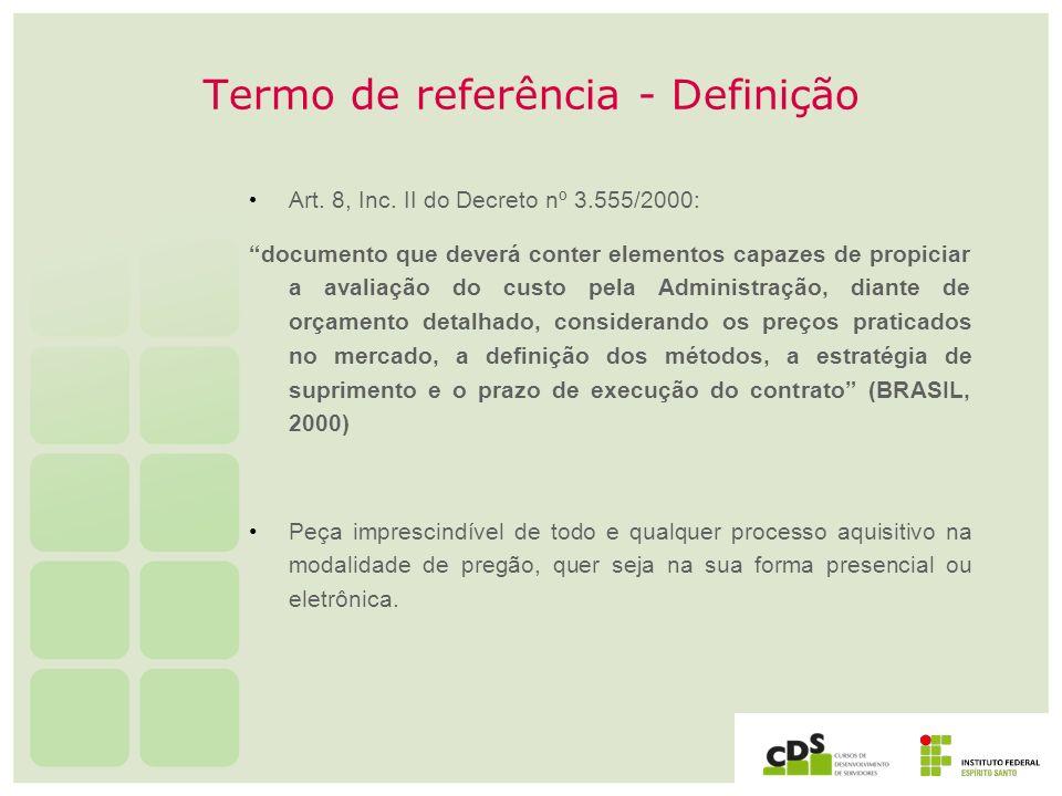 Termo de referência - Definição