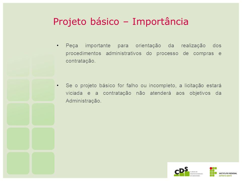 Projeto básico – Importância