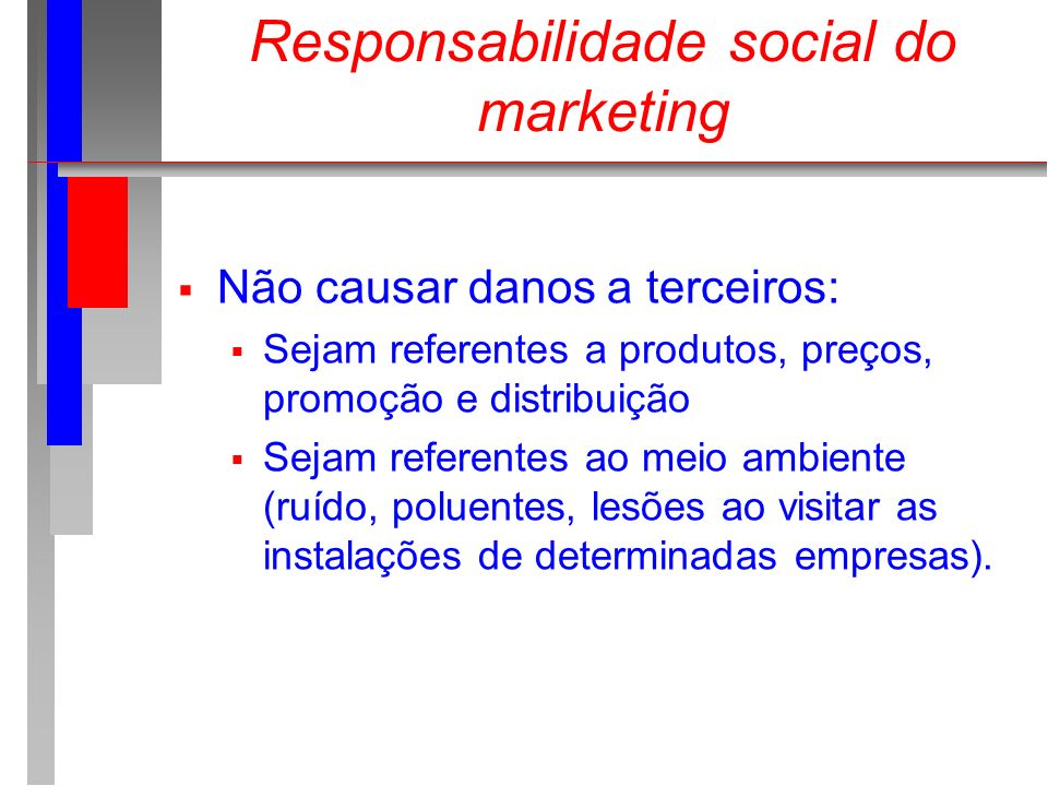 Responsabilidade social do marketing