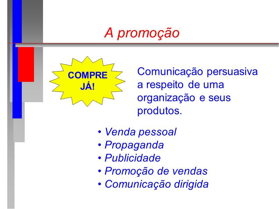 A promoção Comunicação persuasiva a respeito de uma organização e seus