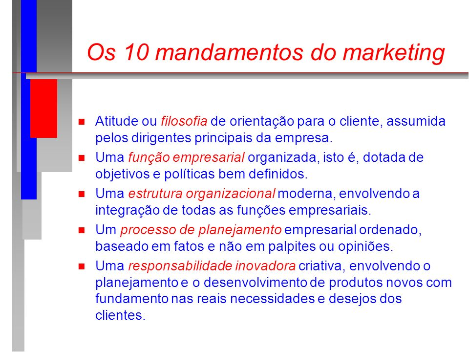 Os 10 mandamentos do marketing