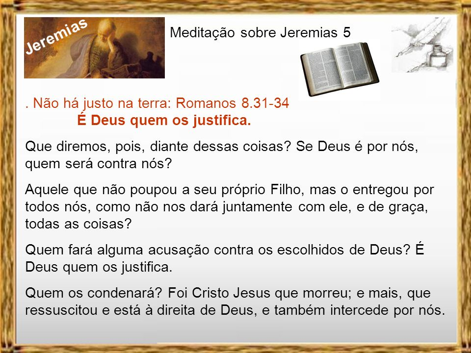 Jeremias Meditação sobre Jeremias 5