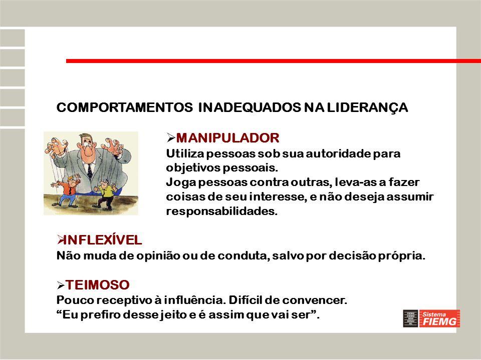 COMPORTAMENTOS INADEQUADOS NA LIDERANÇA
