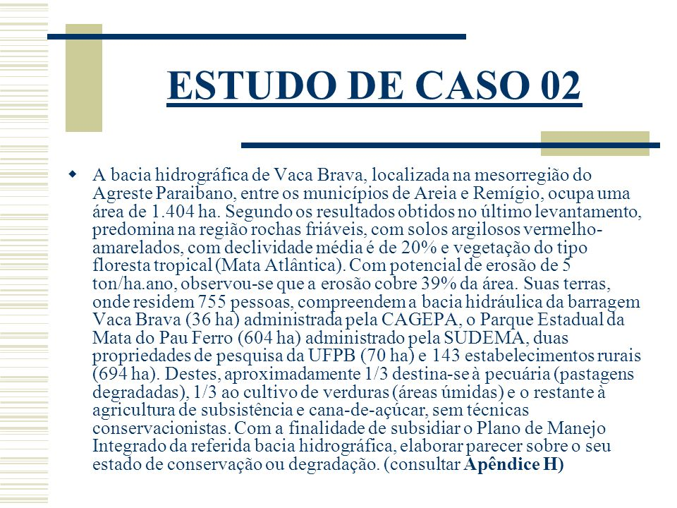 ESTUDO DE CASO 02