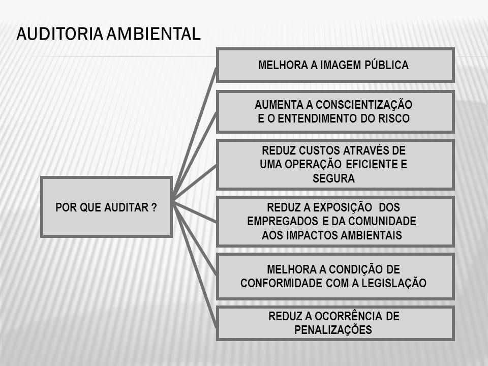 AUDITORIA AMBIENTAL MELHORA A IMAGEM PÚBLICA AUMENTA A CONSCIENTIZAÇÃO