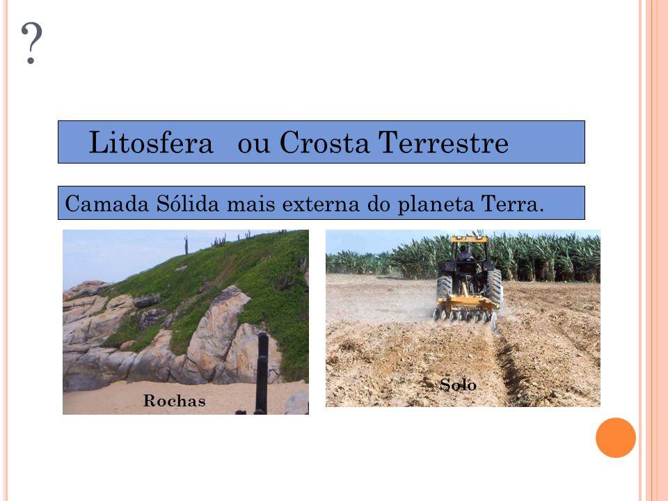 DIVISÃO DA BIOSFERA Litosfera ou Crosta Terrestre