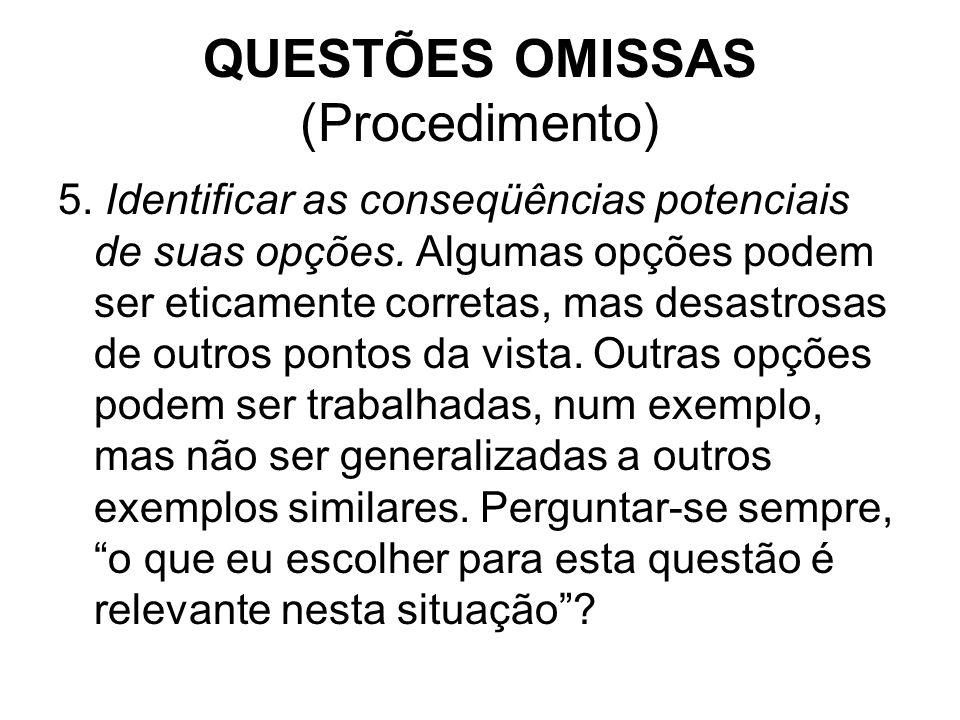 QUESTÕES OMISSAS (Procedimento)
