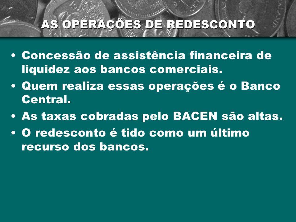 AS OPERAÇÕES DE REDESCONTO