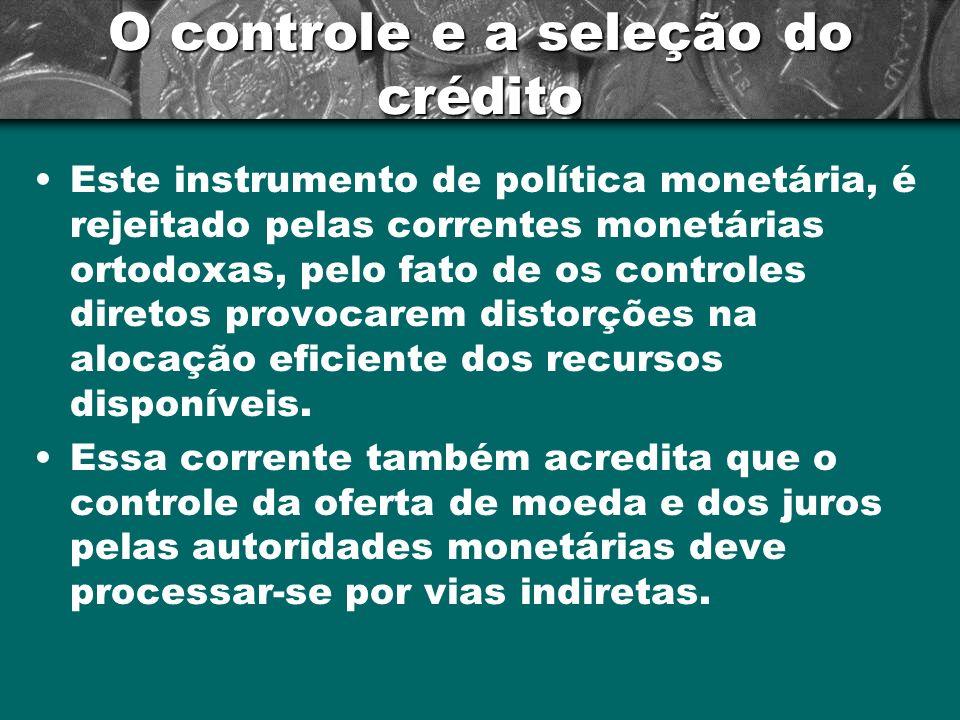 O controle e a seleção do crédito
