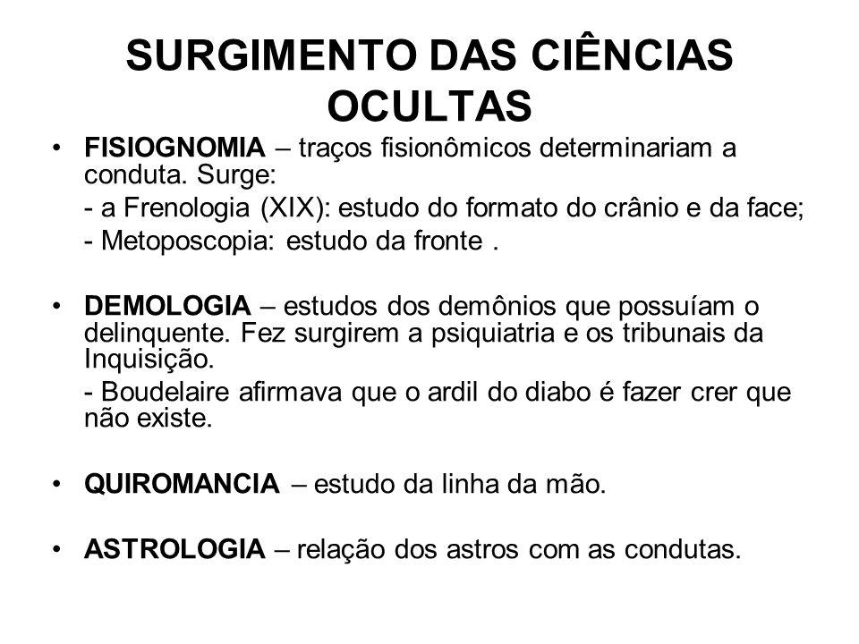 SURGIMENTO DAS CIÊNCIAS OCULTAS