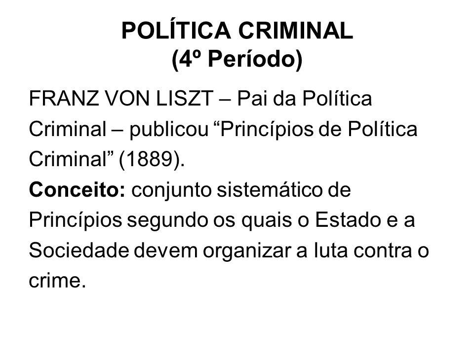 POLÍTICA CRIMINAL (4º Período)