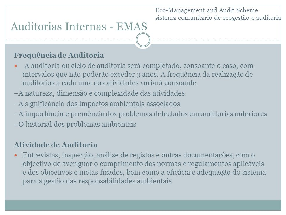 Auditorias Internas - EMAS