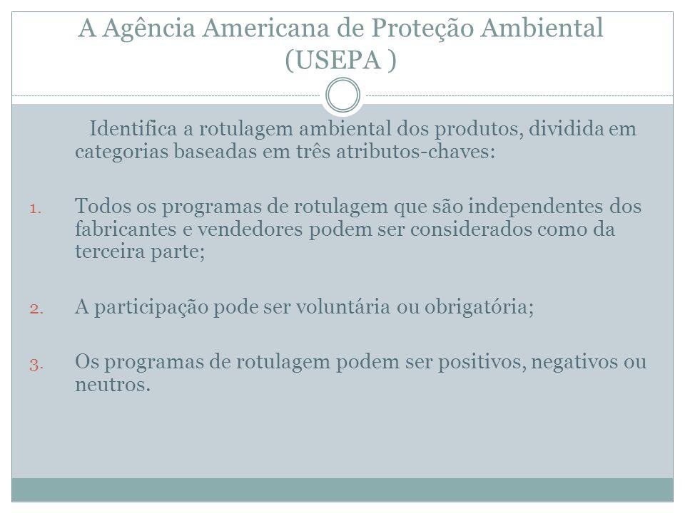 A Agência Americana de Proteção Ambiental (USEPA )