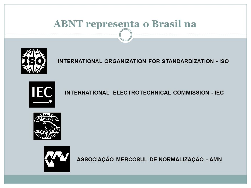 ABNT representa o Brasil na