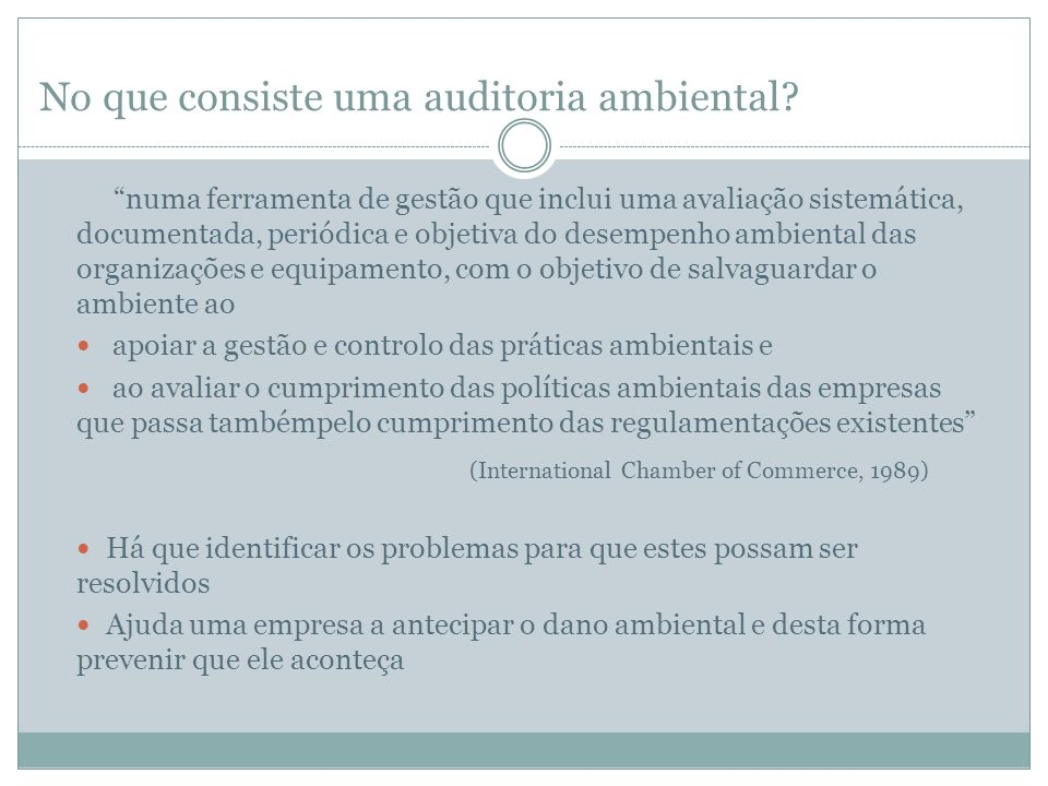 No que consiste uma auditoria ambiental