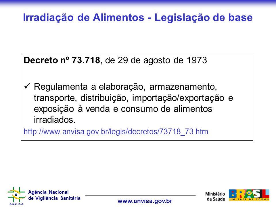 Irradiação de Alimentos - Legislação de base