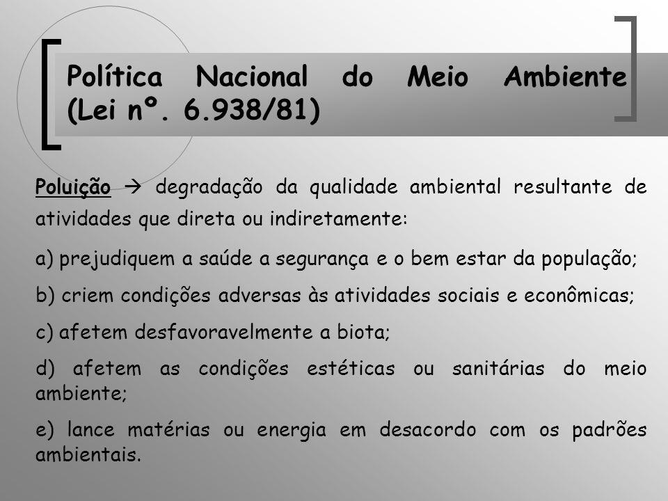 Política Nacional do Meio Ambiente (Lei nº. 6.938/81)