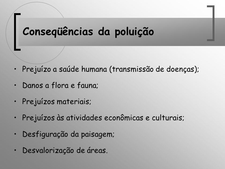 Conseqüências da poluição
