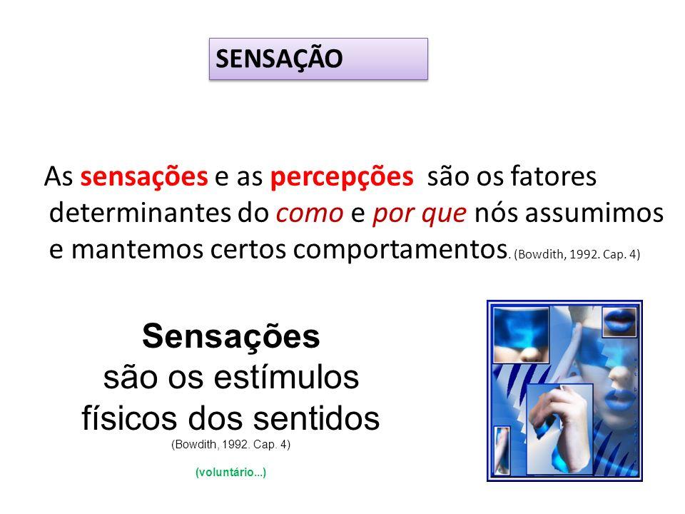 são os estímulos físicos dos sentidos