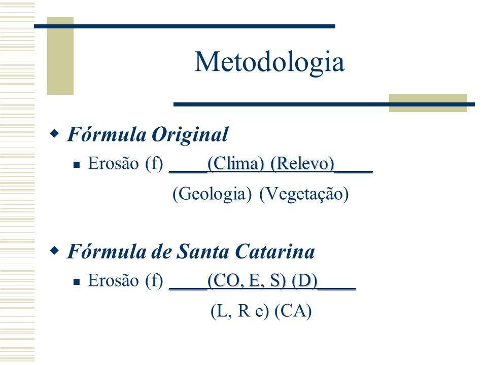 Metodologia Fórmula Original (Geologia) (Vegetação)