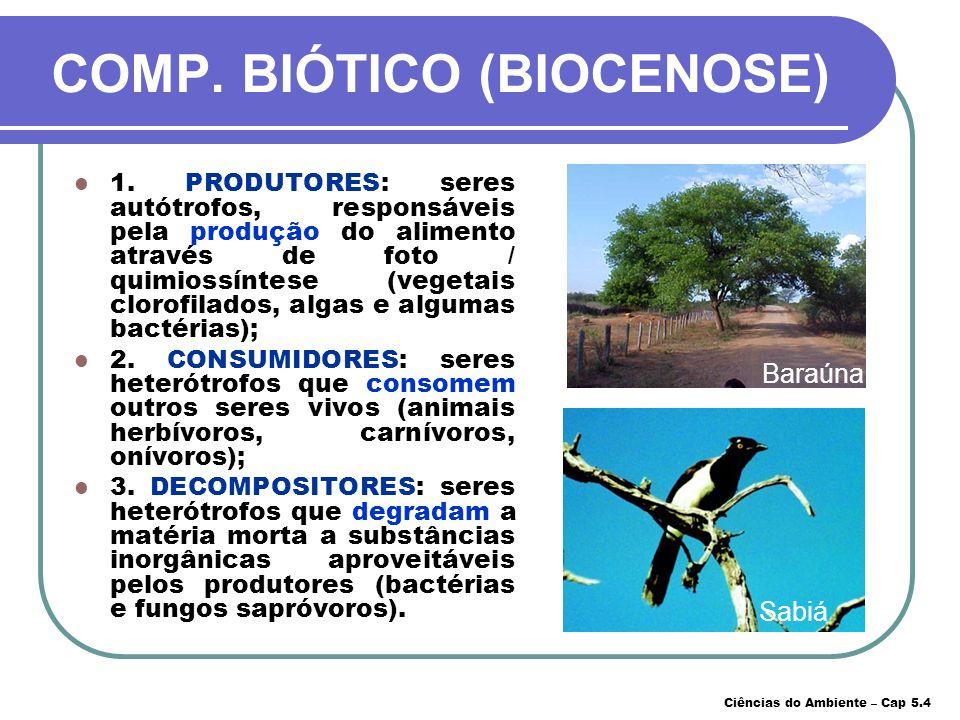 COMP. BIÓTICO (BIOCENOSE)