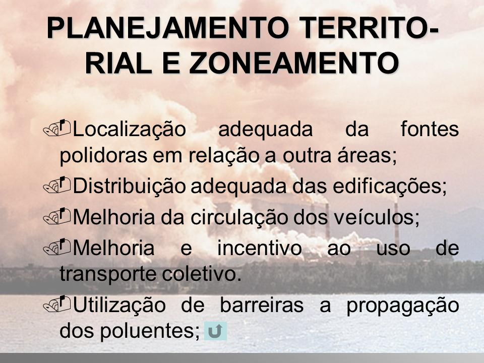 PLANEJAMENTO TERRITO-RIAL E ZONEAMENTO