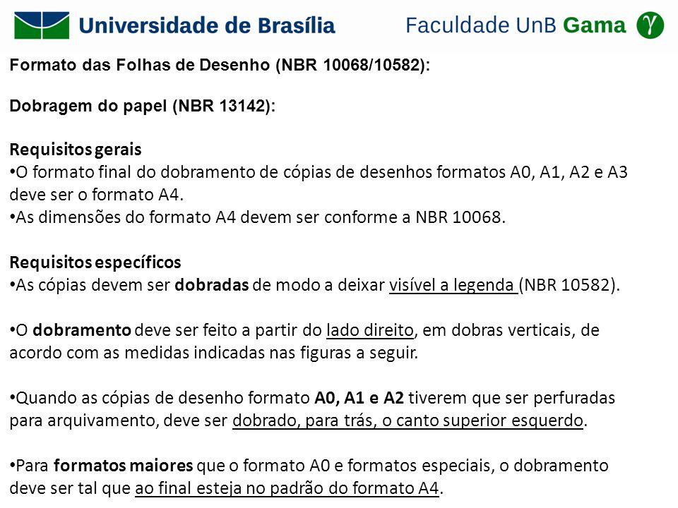 As dimensões do formato A4 devem ser conforme a NBR 10068.