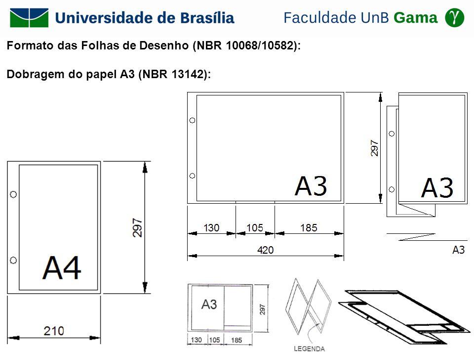 Formato das Folhas de Desenho (NBR 10068/10582):