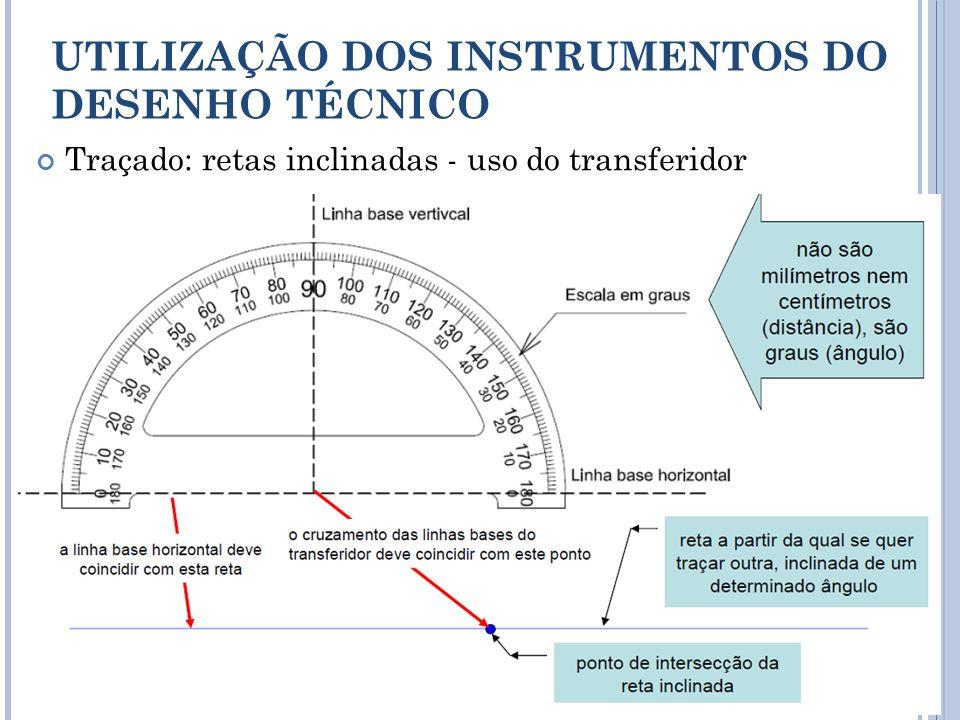 UTILIZAÇÃO DOS INSTRUMENTOS DO DESENHO TÉCNICO