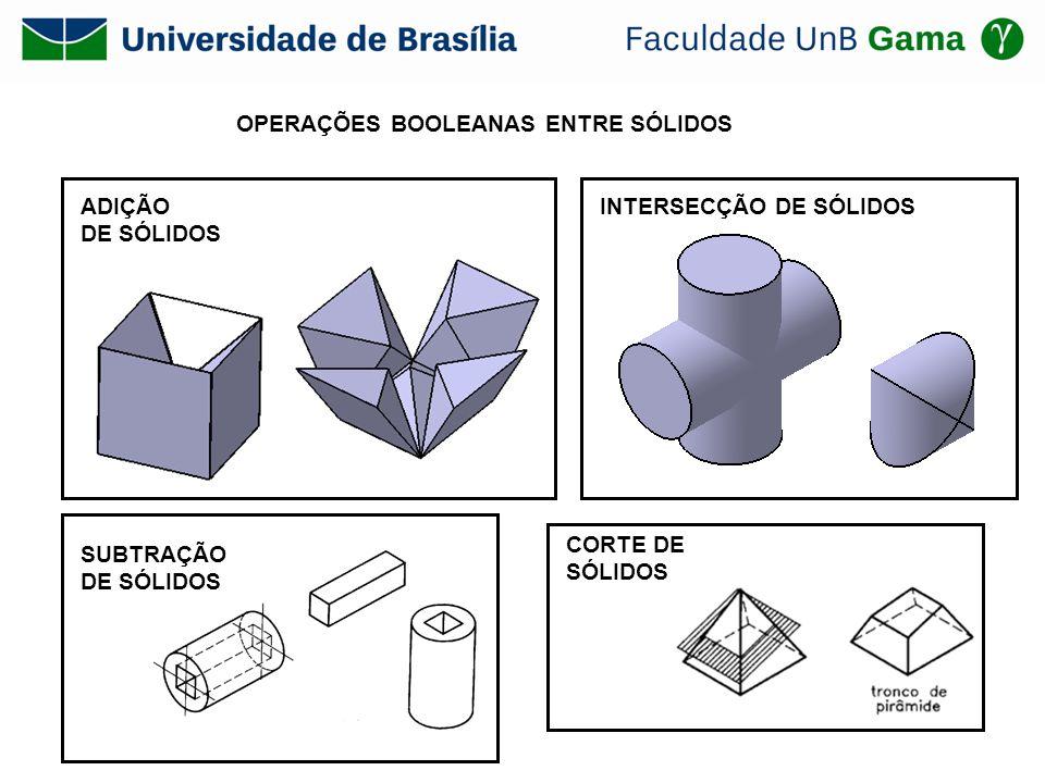 OPERAÇÕES BOOLEANAS ENTRE SÓLIDOS