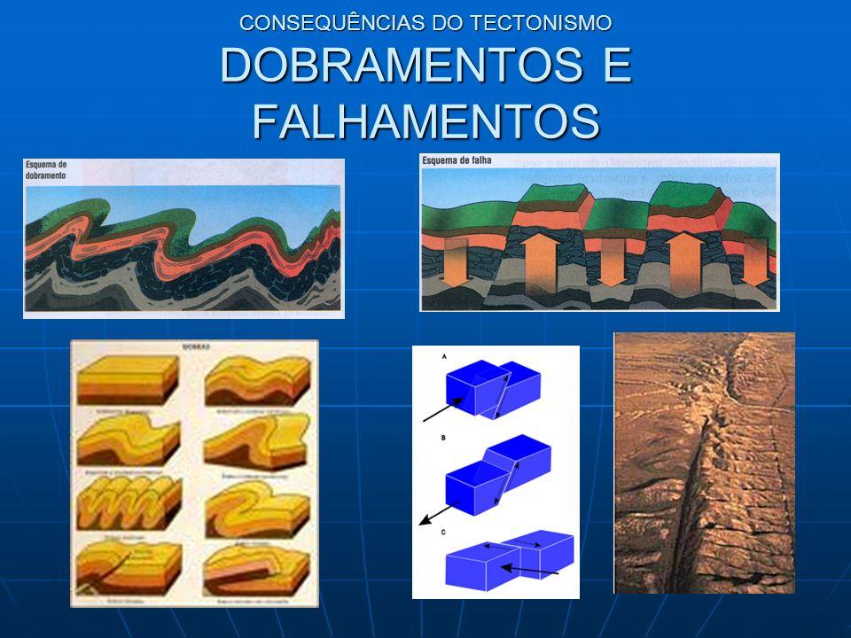 CONSEQUÊNCIAS DO TECTONISMO DOBRAMENTOS E FALHAMENTOS