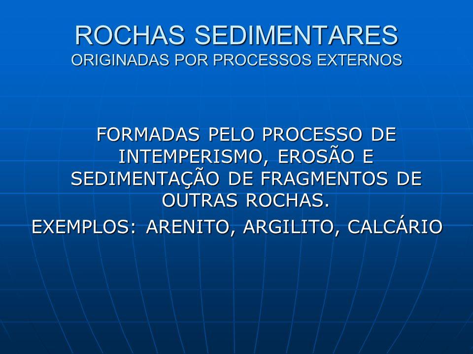 ROCHAS SEDIMENTARES ORIGINADAS POR PROCESSOS EXTERNOS