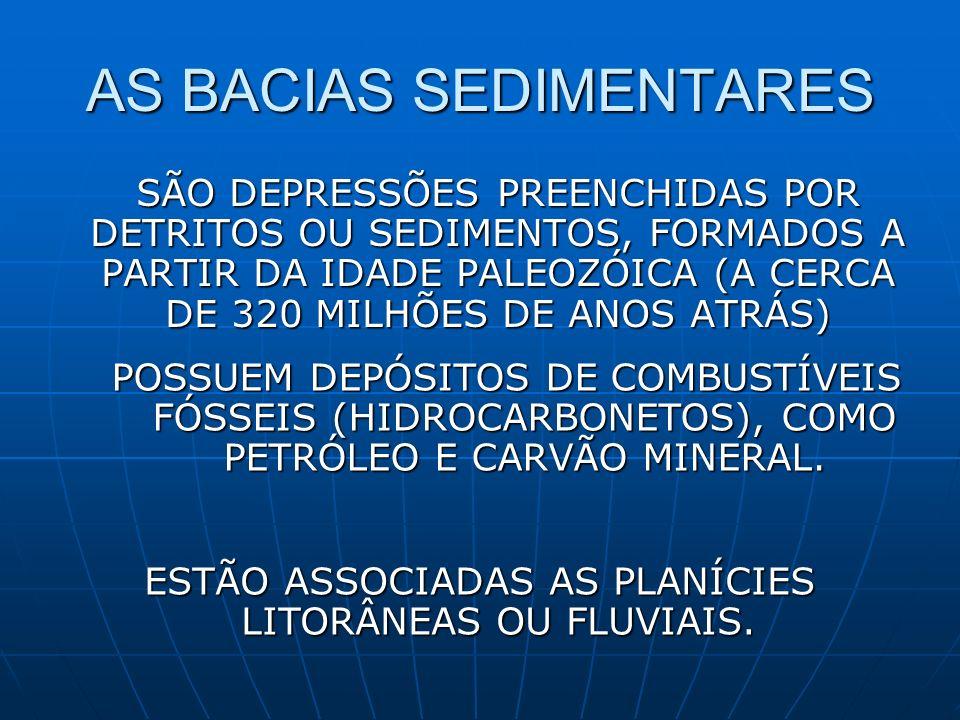 AS BACIAS SEDIMENTARES
