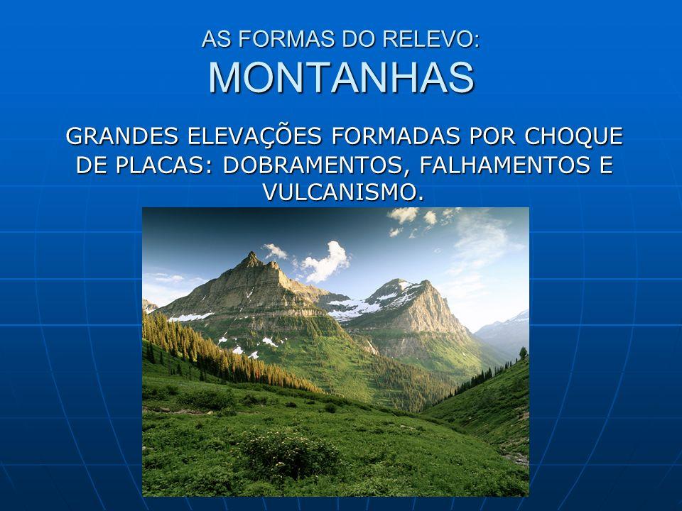 AS FORMAS DO RELEVO: MONTANHAS