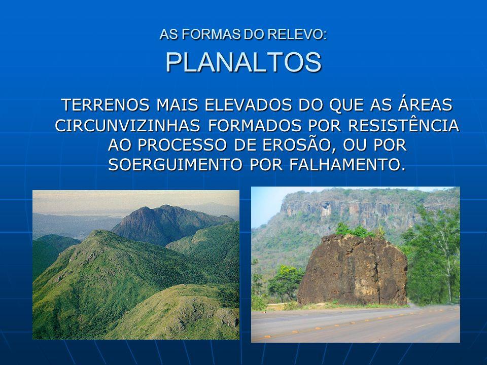 AS FORMAS DO RELEVO: PLANALTOS