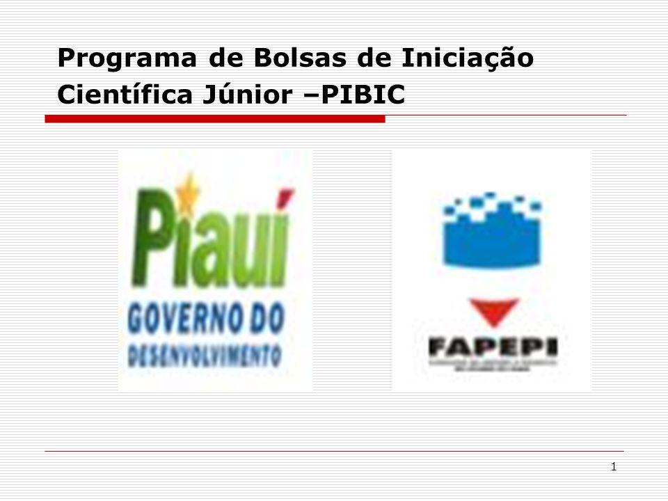 Programa de Bolsas de Iniciação Científica Júnior –PIBIC