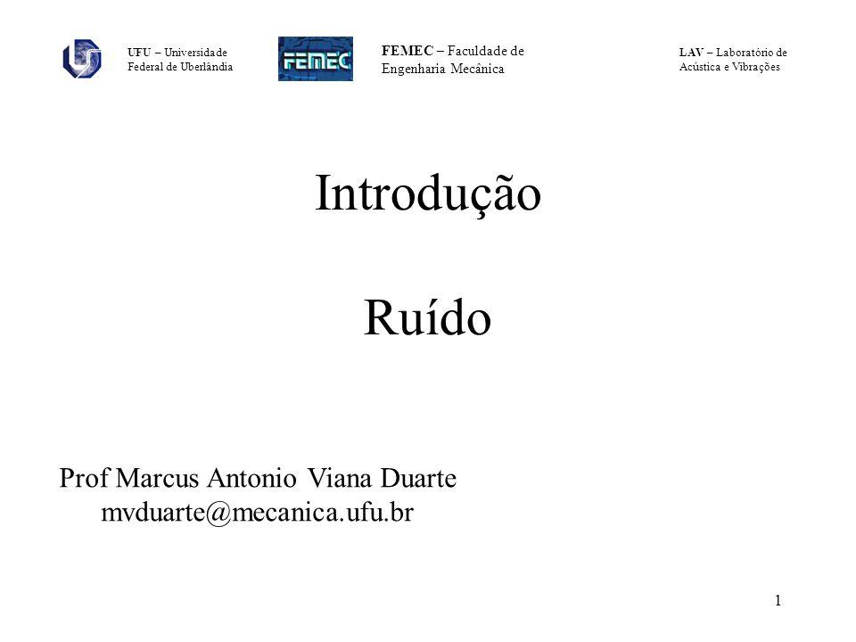 Introdução Ruído Prof Marcus Antonio Viana Duarte