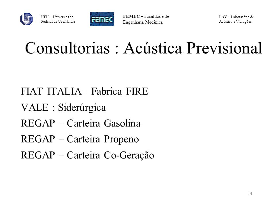 Consultorias : Acústica Previsional