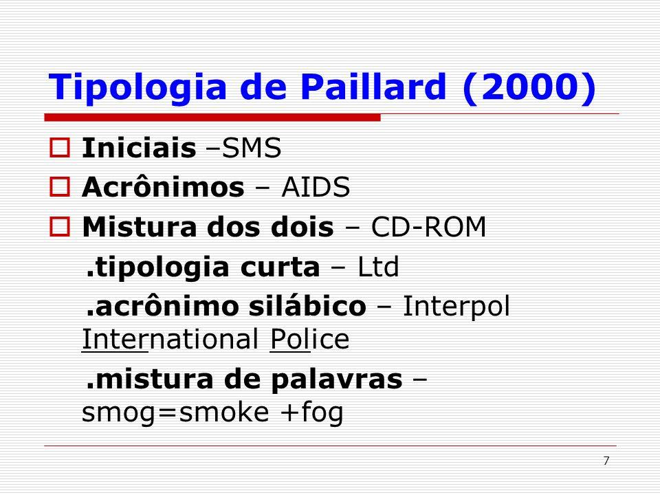 Tipologia de Paillard (2000)
