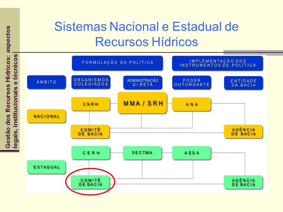 Sistemas Nacional e Estadual de Recursos Hídricos