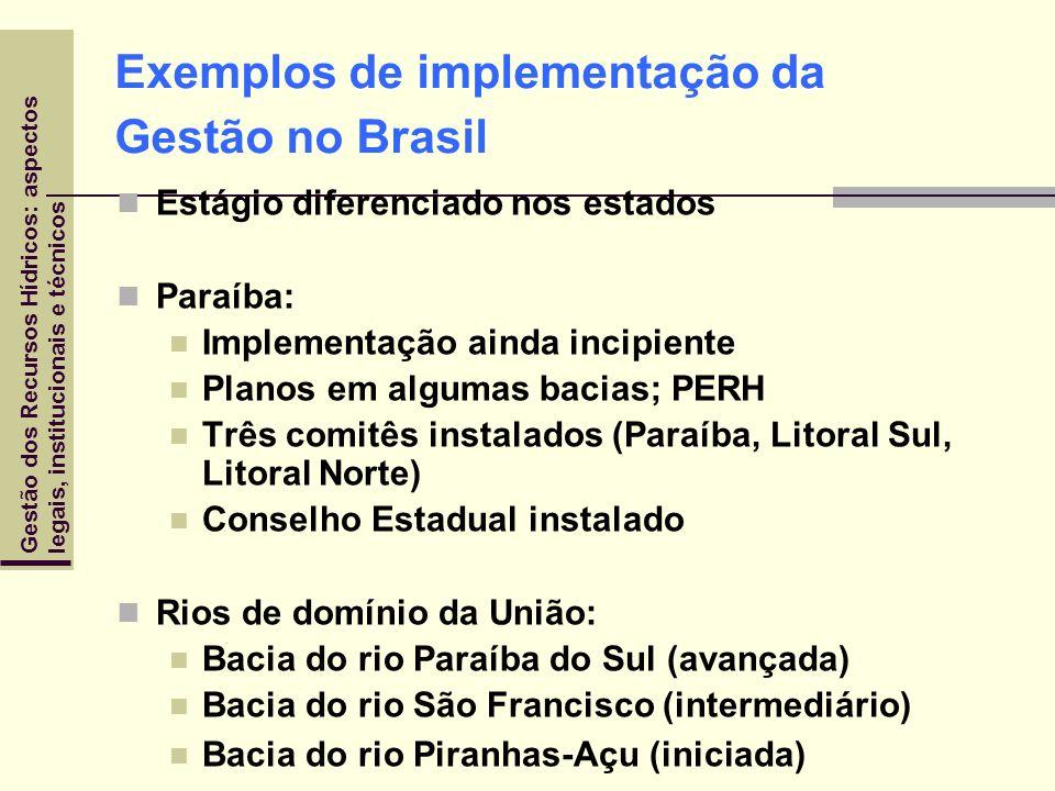 Exemplos de implementação da Gestão no Brasil