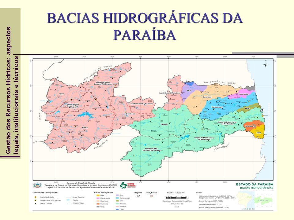 BACIAS HIDROGRÁFICAS DA PARAÍBA