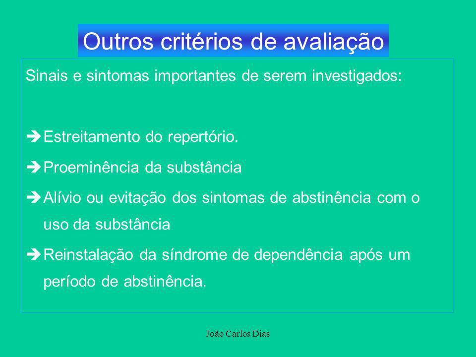 Outros critérios de avaliação