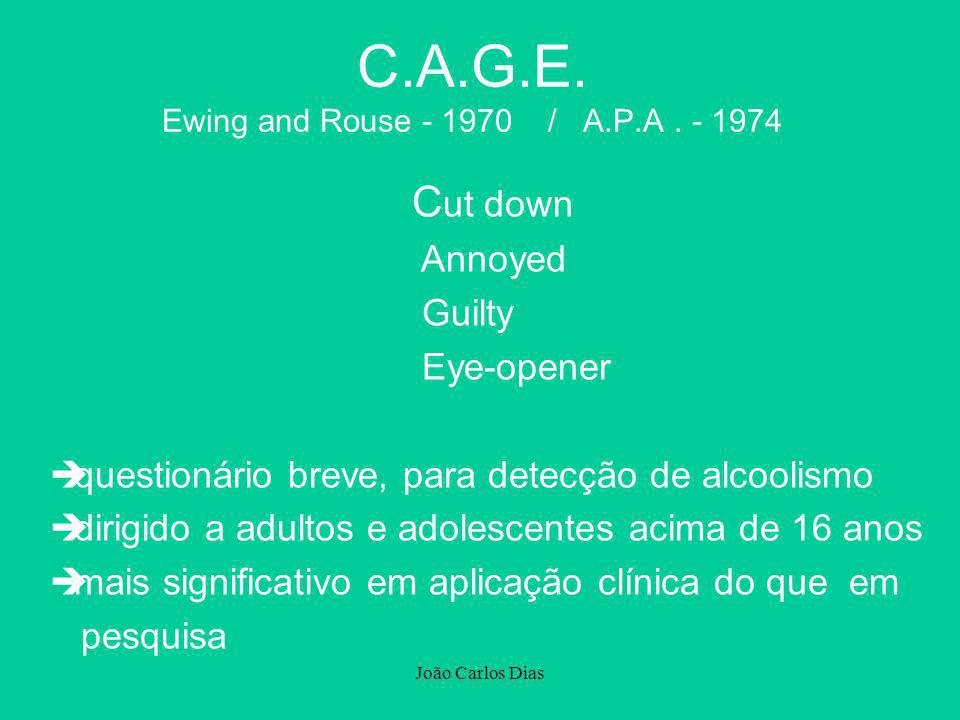 C.A.G.E. Ewing and Rouse - 1970 / A.P.A . - 1974