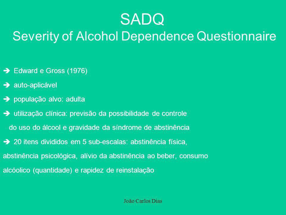 SADQ Severity of Alcohol Dependence Questionnaire
