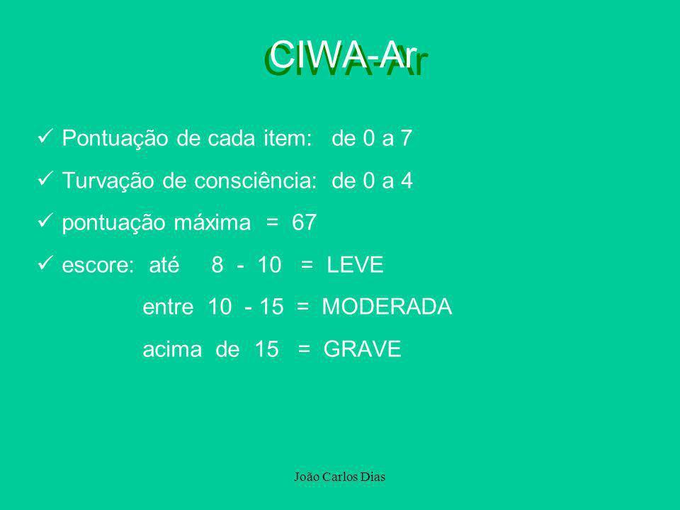 CIWA-Ar CIWA-Ar Pontuação de cada item: de 0 a 7