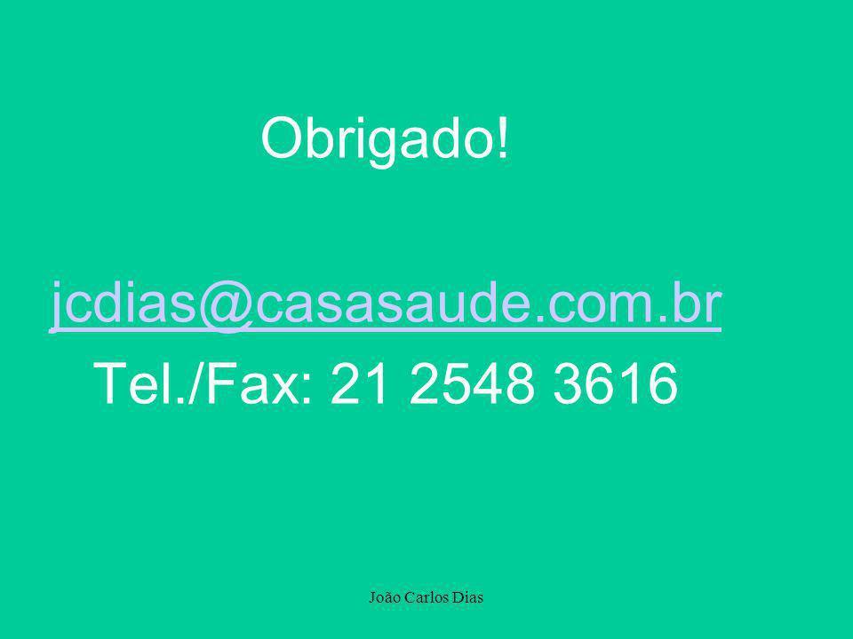 Obrigado! jcdias@casasaude.com.br Tel./Fax: 21 2548 3616