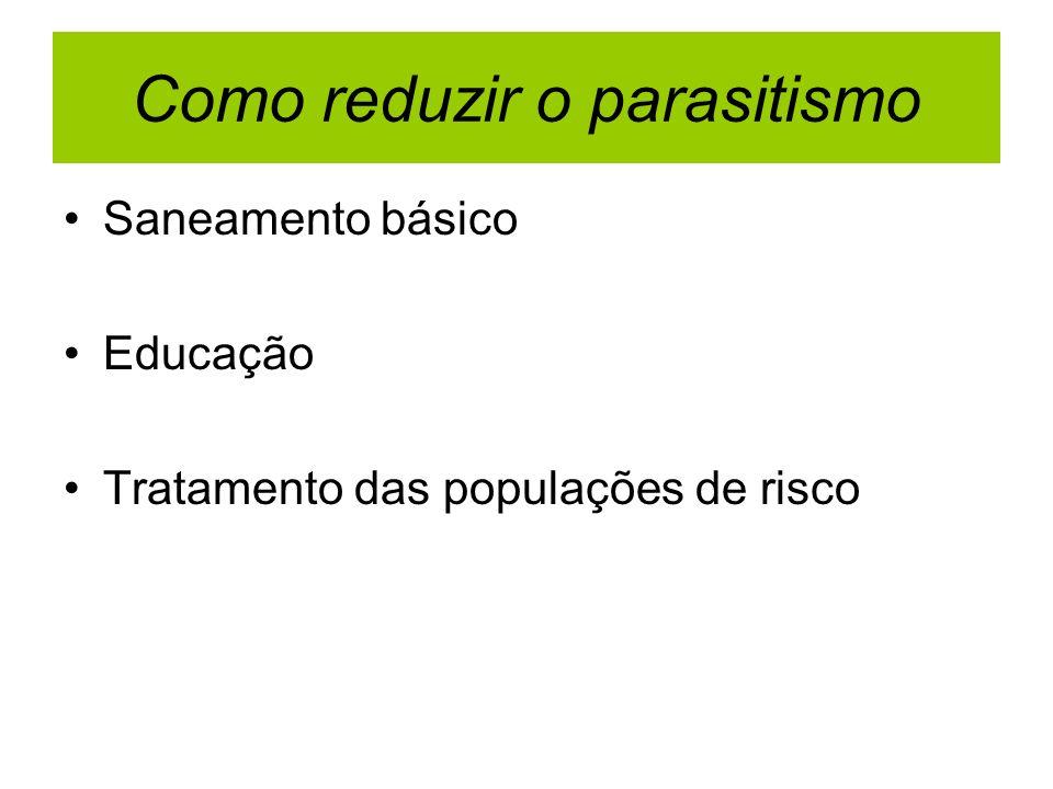 Como reduzir o parasitismo