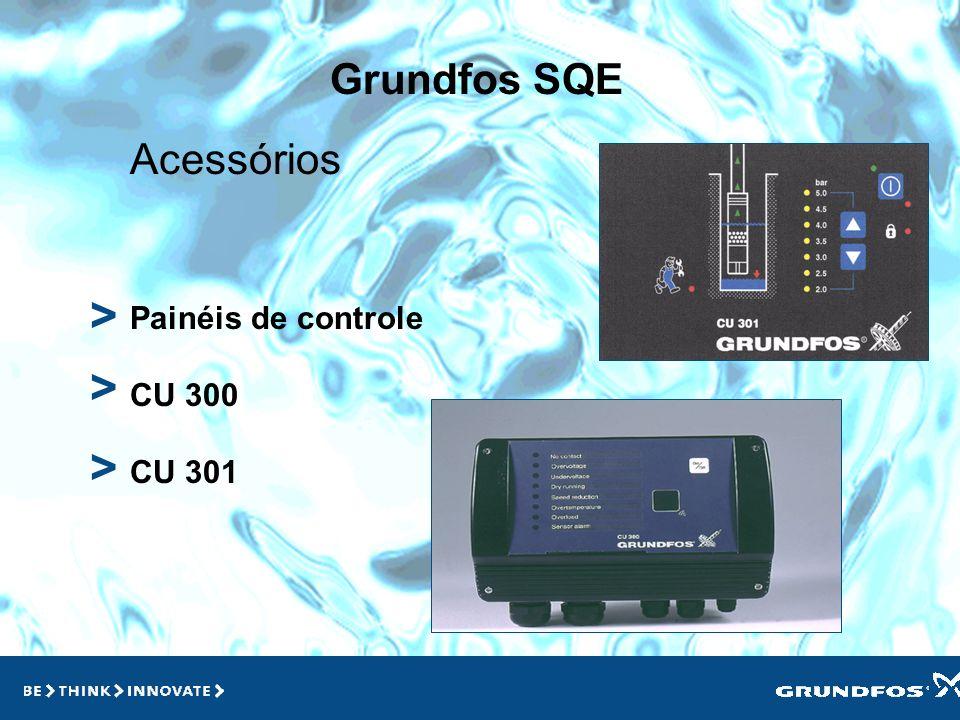> > > Grundfos SQE Acessórios Painéis de controle CU 300